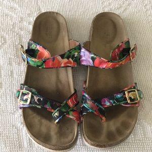 Target floral sandals.